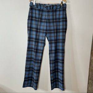 Nike Golf Dri-Fit Pants Blue Plaid Size 8
